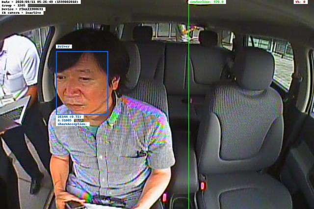 インカメラで運転者を認識。エンジンONで自動的に認証は完了する