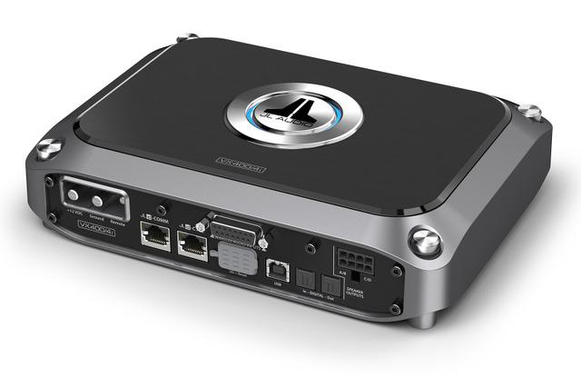 「パワーアンプ内蔵DSP」の一例(JLオーディオ・VX400/4i)。