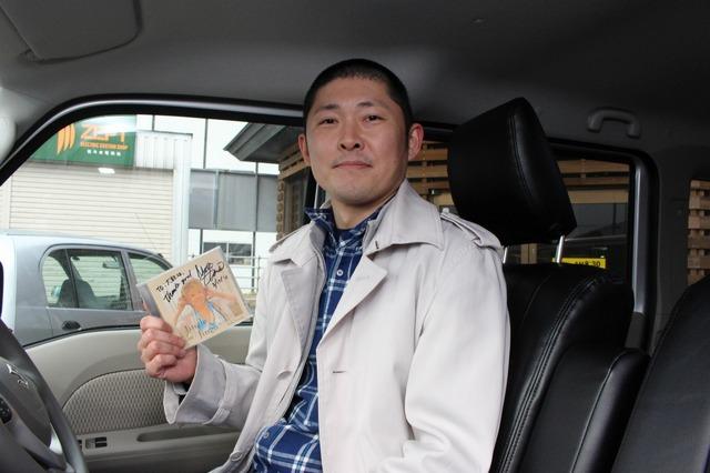 大好きなジャズシンガーである澤田真希さんのCDを愛聴しているオーナーの高橋さん。ライブにも良く足を運ぶという大ファンだ。