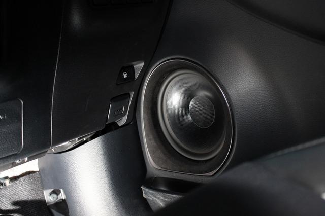 T5のシックな振動板デザインも相まってアウターバッフルとは思えないシックなイメージを創り出したドアインストール。