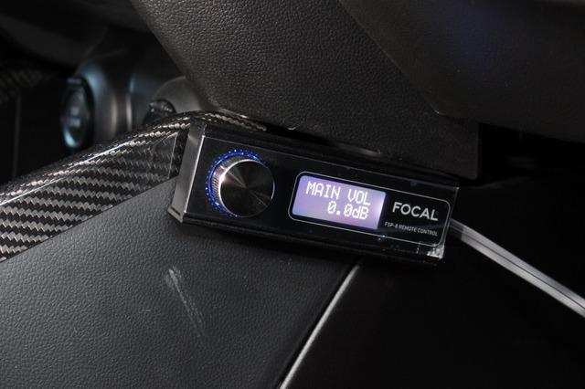 フォーカルFSP-8の操作部はコクピットまわりに設置して操作性にも考慮。使い勝手の良いシンプルシステムとした。