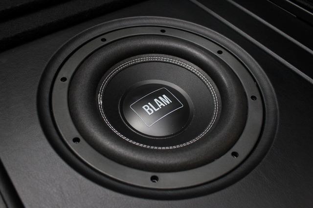 サブウーファーにはブラム・リラックスシリーズのR10DBをチョイス。フロアにフラットにインストールされる。
