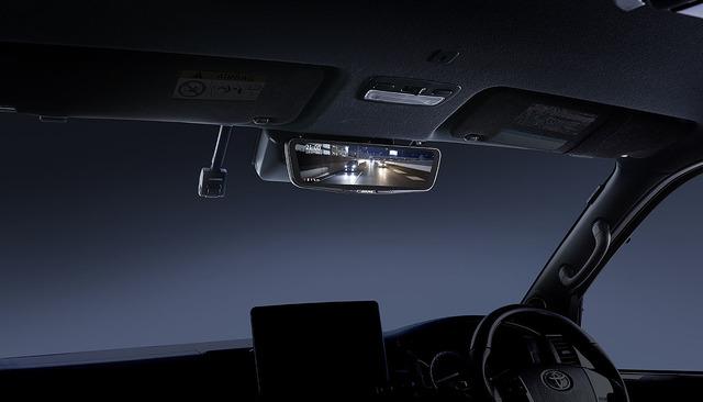 ドライブレコーダーの装着例。