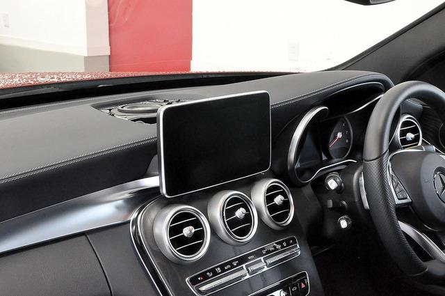欧州車のインテリアの一例。